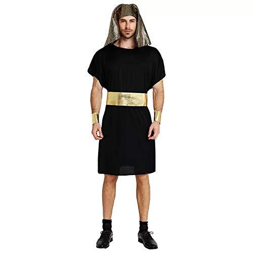thematys Pharao Ägypten Kostüm-Set für Herren - perfekt für Fasching, Karneval & Cosplay - Einheitsgröße 160-180cm (Ägypter Kostüm Frauen)
