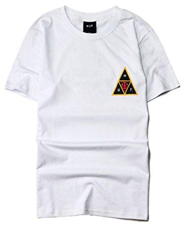 BOMOVO Herren Original HUF Valueweight T Rundhals T-Shirt F140 5er 10er 15er 20er Pack Weiß