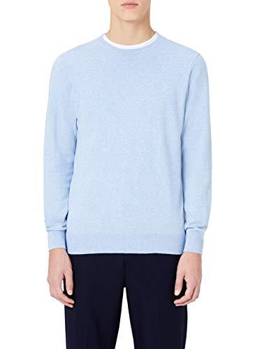 MERAKI Jersey de Algodón Hombre Cuello Redondo, Azul (Ocean Blue), XX-Large