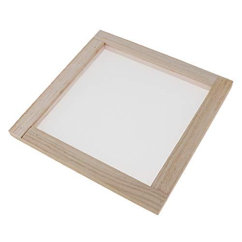 sharprepublic Alte Edelstahl Und Holz Papierherstellung Papierherstellung Mould Frame Screen Tool Für DIY Papier Papierherstellung Mesh Für Anfänger - 30X40C, 20x20cm