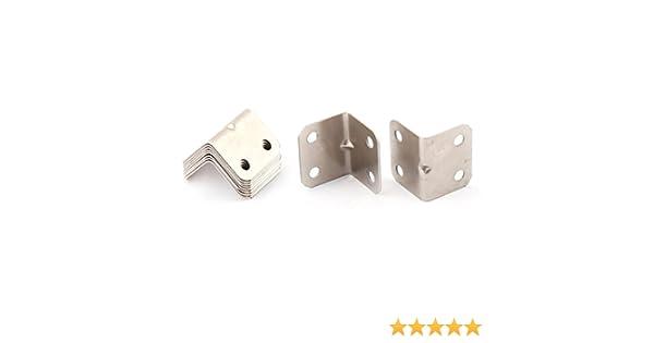 10/pcs 25/Mmx25mmx32/mm L en forme de coin en m/étal Brace Angle Bracket Support