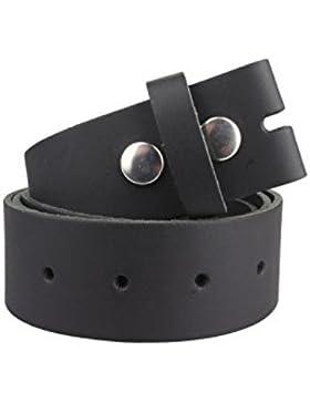 Cinturón de cuero sin hebilla | Cinturón para hebillas en varios colores| Tamaño de la cintura: 85cm asta 140cm
