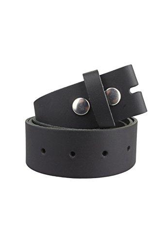 Cinturón de cuero sin hebilla | Cinturón para hebillas en negro| Tamaño de la cintura: 125cm