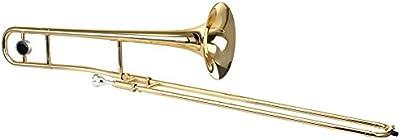 Classic Cantabile 00037551TP-Link 215trombón tenor (en Si bemol), latón, de alpaca Interior Tren, velvetón (215,3mm), lacado, incluye maletín, boquilla y gamuza de limpieza)