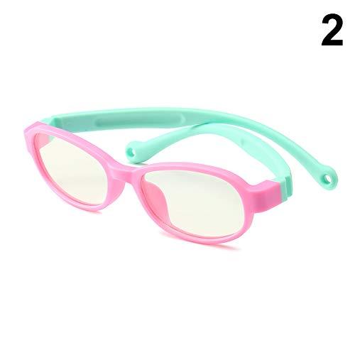 MAyouth Kinder Kinder Anti Blue Ray Brille Silikon Rahmen Anti-Strahlung Klare Linse Für Jungen Mädchen - Lesen Computerspielgläser