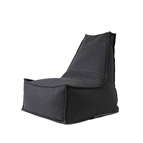 YJchairs Sitzsack - Faules Sofa mit Hoher Rückenlehne Kindersitz Einzelsessel (Farbe : SCHWARZ)