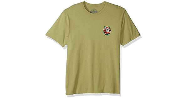 Sullen Men/'s Death Rose Short Sleeve T Shirt Avocado Green Clothing Apparel Tee
