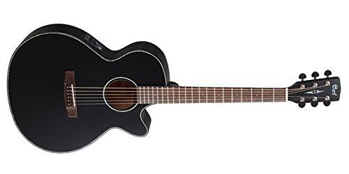 Cort SFX-E - Guitarra eléctrica (calibre de cuerdas: 12-53), color negro brillante