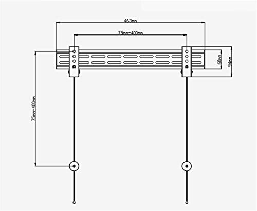 QTJ Fester Wandständer,Haushalts - Wandhalterung, Ständer kaltgewalzten Stahl 26-60 - Zoll LCD TV Rack - Halterung Verstellbare Wandbehang Zwei - Loch - Rack, Wandhalterung