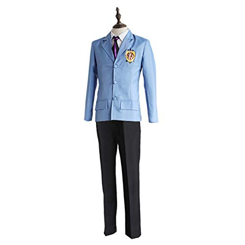 Gaosheng Cosplay Kostüm Ouran High School Haruhi Fujioka Uniform Blau für Cosplay Party