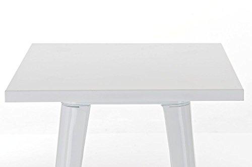 CLP Metall Stehtisch LOGAN Bartisch weiß - 3