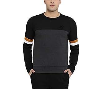 Puma VK Men's Cotton Crew Sweatshirt (Black, Small)
