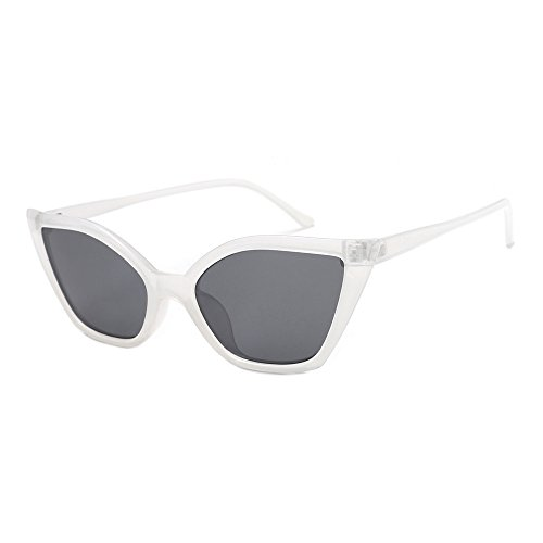 YWLINK Damen Katzenauge Rahmen Sonnenbrillen Integrierte UV-GläSer Unisex Klassisch Strand Urlaub Retro Brillen