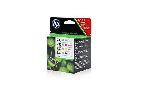 / 932XL, 933XL, für OfficeJet 6700 Premium 4x Premium Drucker-Patrone, Schwarz, Cyan, Magenta, Gelb, 1x 1000, 3x 825 Seiten ()