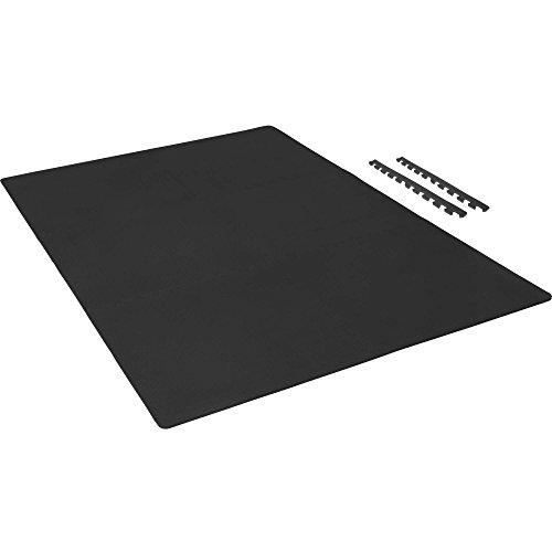 Schutzmatten-Set mit Endstücken – GORILLA SPORTS 6 Puzzle-/Unterleg-Matten 62,5 x 60,5 x 1,2 cm, Schwarz