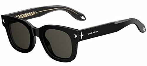 Givenchy - GV 7037/S, Geometrico, acetato, uomo, BLACK/BROWN GREY(Y6C/NR), 47/23/150