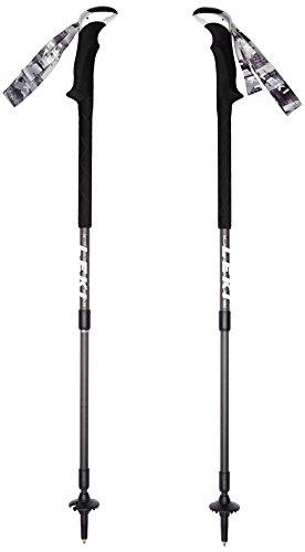 LEKI Wanderstock Carbonlite XL - Mochila de senderismo, color negro, talla 100-135