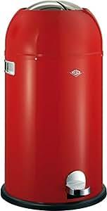 Wesco Kickmaster Poubelle Acier inoxydable Rouge 33 litres