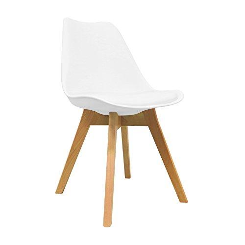 Silla Nórdica - Silla escandinava One Blanca - silla nordic scandi inspirada en silla eames dsw - Mona - (Elige tu color)