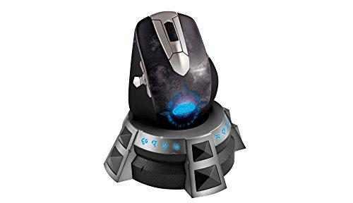 SteelSeries World of Warcraft Wireless MMO Gaming Maus anthrazit/silber (Wireless World-of-warcraft-maus)