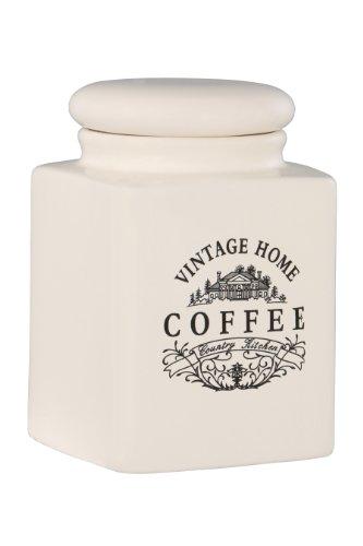 Premier Housewares Vintage Home Quadratische Kaffeedose, groß