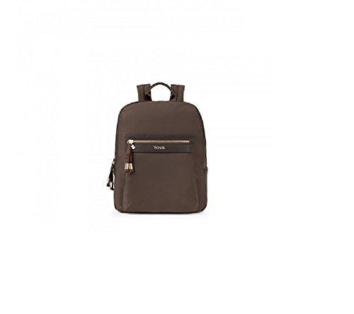 Imagen de tous brunock chain de lona, bolso  para mujer, marrón brown , 9x30x25 cm w x h x l