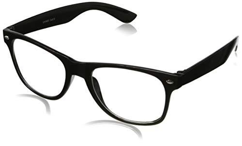 Ciffre Sonnenbrille Nerdbrille Nerd Retro Look Brille Pilotenbrille Vintage Look - ca. 80 verschiedene Modelle Schwarz Klar Glas