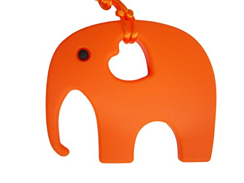 Elephant Teether Soother Silicone Toy BPA Free, 12 Colours 31UL7fL J3L