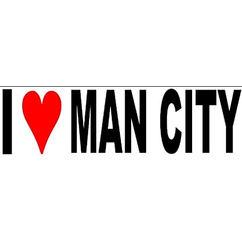 I Love Man City Manchester United Champions adhesivo Vinilo Bumper ventana