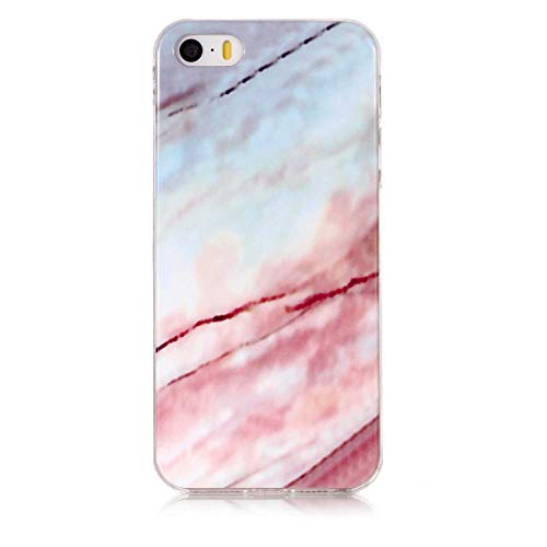 DENDICO Coque iPhone Se/iPhone 5 / 5s, Coque en Silicone TPU de Protection pour Apple iPhone Se/iPhone 5 / 5s, Ultra Mince Coque Housse Etui Bumper Case - Motif 3