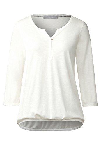 CECIL Damen Basic 3/4-Arm Shirt Amelie pure off white