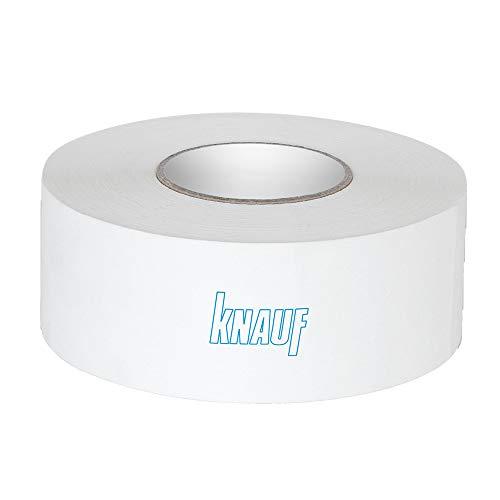 Knauf Fugen-Deckstreifen Kurt, reißfester Bewehrungs-Streifen zur Verspachtelung von Gipskarton-Platten / Gipsfaser-Platten: Faserband mit hoher Festigkeit, 75-m