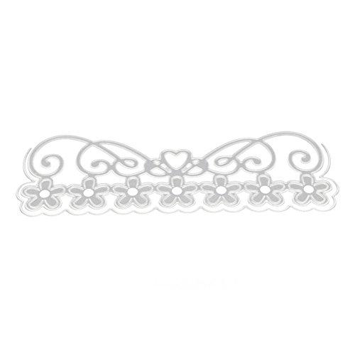 Verlike Metall Stanzschablone Prägeschablone für DIY Scrapbook Album Papier Karte Basteln Dekoration, Karbonstahl, Flower Crown, Einheitsgröße