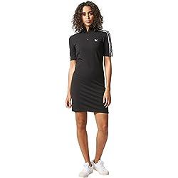 adidas 3 Str Vestido de Tenis, Mujer, Negro, 40