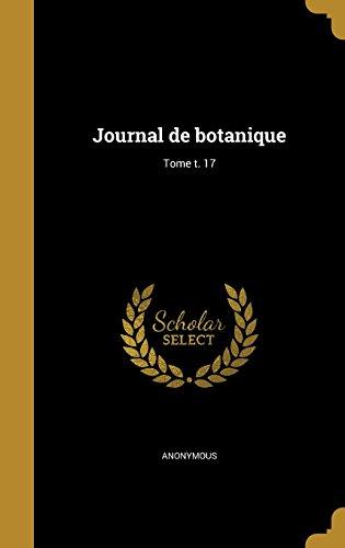 Journal de Botanique; Tome T. 17