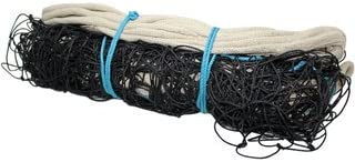 SPORTLAND Nylon Volley Ball Net with Canvas Tape (Black)