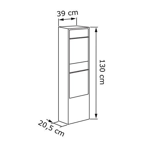 Briefkastenanlage, Design Briefkasten Big Box for Two Schwarz/Edelstahl – Bravios - 3