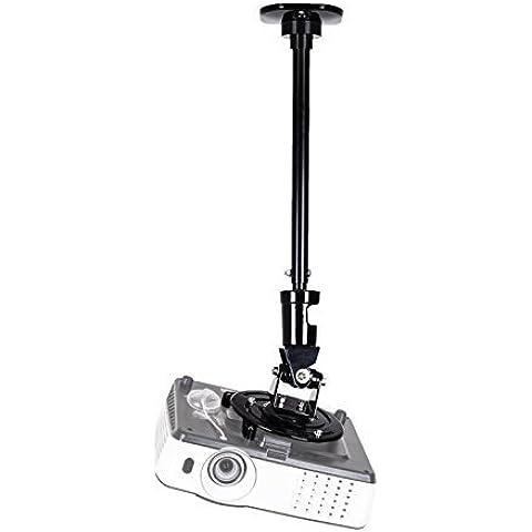 Duronic PB02XL - Soporte de techo para proyector con Brazo de extensión – Rota 360° / Gira 180° / Inclina 180° - Fuerte y