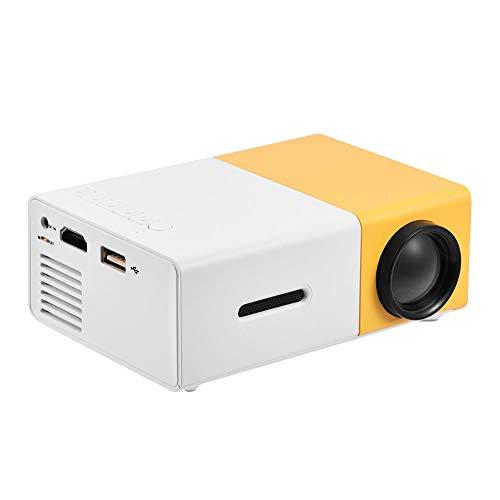Garsent Proyector LED, 1080P Mini Proyector de Video portátil con PC Portátil USB/TF/AV/HDMI Entrada 1500lm Home Cinema Projector Speake Incorporado para TV Xbox PC.(Orange)