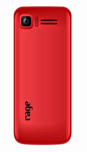 Rage Mobiles Rage hero Dual Sim Mobile black+red Colour