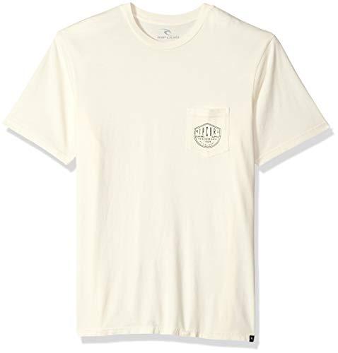 Rip Curl Herren Prohibition S.I. Pocket Tee T-Shirt, Off White, XX-Large -
