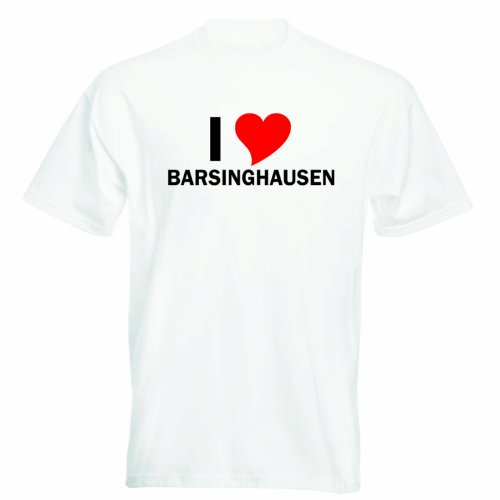 T-Shirt mit Städtenamen - i Love Barsinghausen - Herren - unisex Weiß