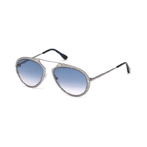 Tom Ford Herren Ft0508-12W-Grau Sonnenbrille, Grau, 55