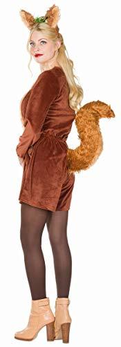 Rubie\'s Damen Kostüm Tier Eichhörnchen Puschel Jumpsuit Karneval (36)