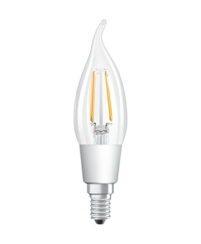 Osram LED Star+ GlowDim Classic BA Lampe, in Kerzenform mit E14-Sockel, Ersetzt 40 Watt, Filamentstil Klar, Warmweiß - 2700 Kelvin bis 2000 Kelvin, 1er-Pack