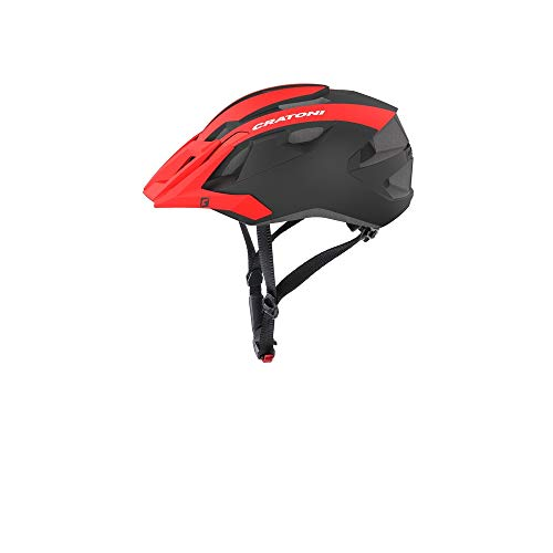 Cratoni Mountainbike Helm AllRide, Red-Black Matt, Gr. Uni (53-59 cm)