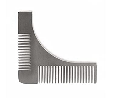 Kuulee Stainless steel Beard Styling & Shaping Template Comb Trim Tool Perfect for Lines & Symmetry