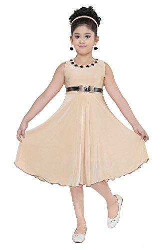 YAYAVAR Girls Crepe Silk Tashar Colored Casual/Party Wear Western Frock for Girls...