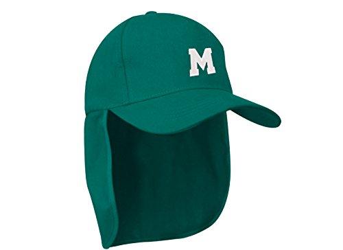 MFAZ Morefaz Ltd Junior-Legionär-Stil Jungen Mädchen Mütze Baseball Nackenschutz Sonnenschutz Cap Hut Kinder Kappe A-Z Letter (M) (Snapback Lakers Hut)