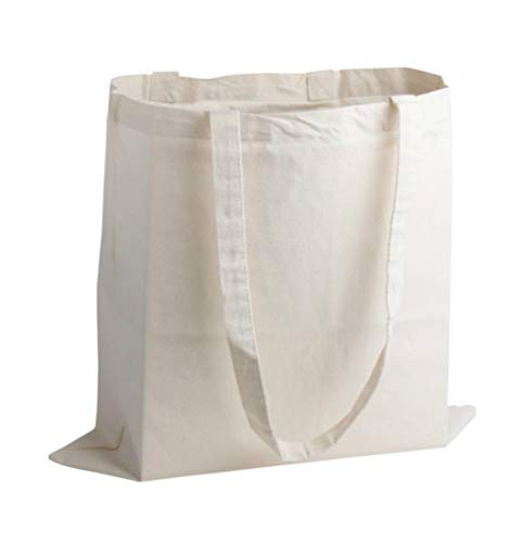 53ab1d396 10 x Cotton Shopping Bags. Natural Colour Tote Shoppers. Ideal for Printing  or Fabric